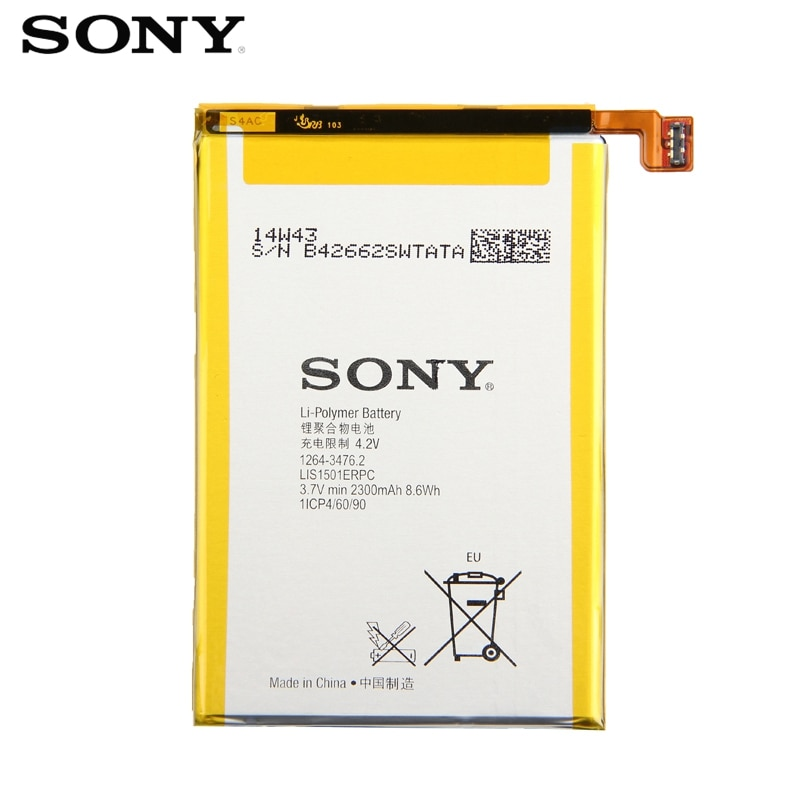 Original SONY Battery For Sony Xperia ZL L35h Odin C650X Xperia X ZQ LIS1501ERPC Genuine Replacement Phone Battery+Tool 2300mAh enlarge