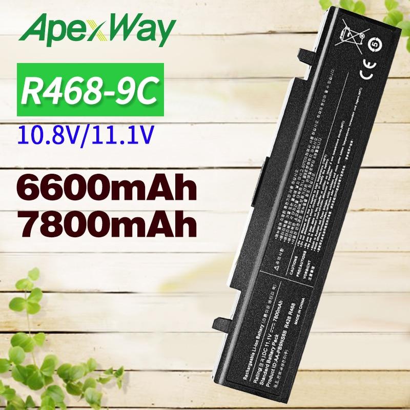 6600mAh 11,1 v batería para SAMSUNG AA-PB9NS6B AA-PB9NC6B AA PB9NC6B R468 R458 R522 R580 R540 R530 R519 pb9nc6b np350v5c np350e5c