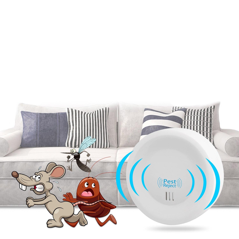 Repelente de mosquitos eléctrico, ultrasónico, limpiador de Ratones, cucarachas, hogar, insectos, dispositivo para repelente de plagas