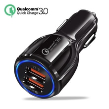 QC3.0 chargeur de voiture double USB 6A Charge 25W Charge rapide 3.0 pour iPhone X Xiaomi Mi 9 Samsung Galaxy S6 HTC superchargeur adaptateur