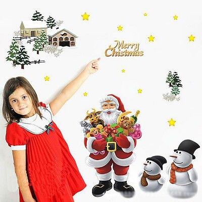 Navidad ornamento para ventana extraíble Santa cláusula de etiqueta de la pared de vinilo mural artístico DIY etiqueta de la Decoración de casa