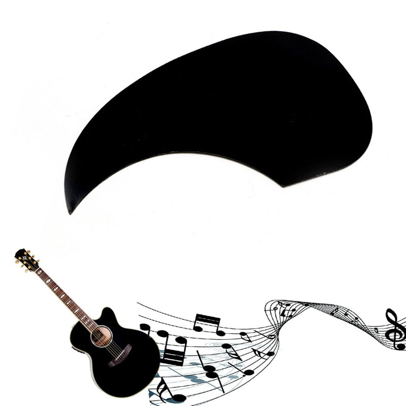 Golpeador celuloide negro Placa de rasguño Pick Guard para guitarra acústica Nuevo 2018