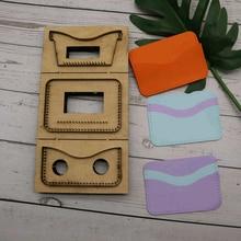 Herramientas para cuero cuir artisanat   Gabarit coupe-tissu porte-cartes sac à monnaie, moule couteau de découpe, outil de poinçonnage à main