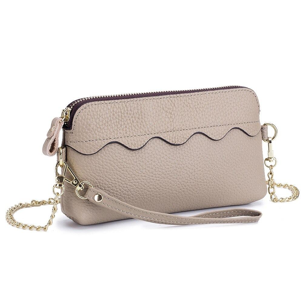 Bolso bandolera para mujer 2019, pequeño bolso de hombro, bolso para teléfono móvil, bolso de mano con cadena, bolso de día, bolso de piel auténtica para mujer, Bolsas