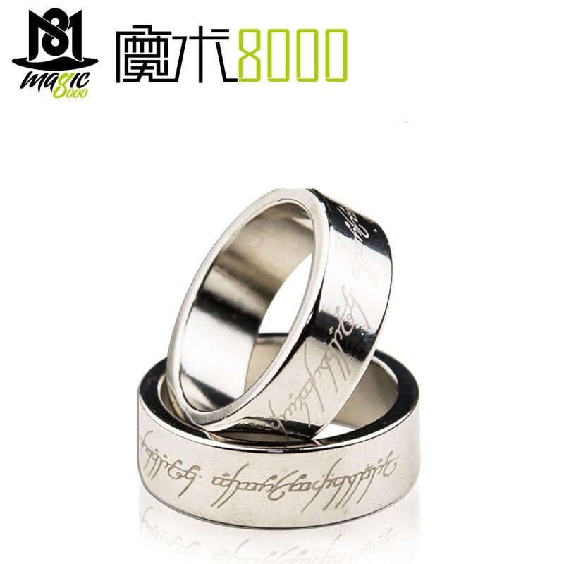 Мощное магнитное магическое кольцо, магнитное кольцо для монет, волшебные трюки, украшение для пальцев, волшебное кольцо