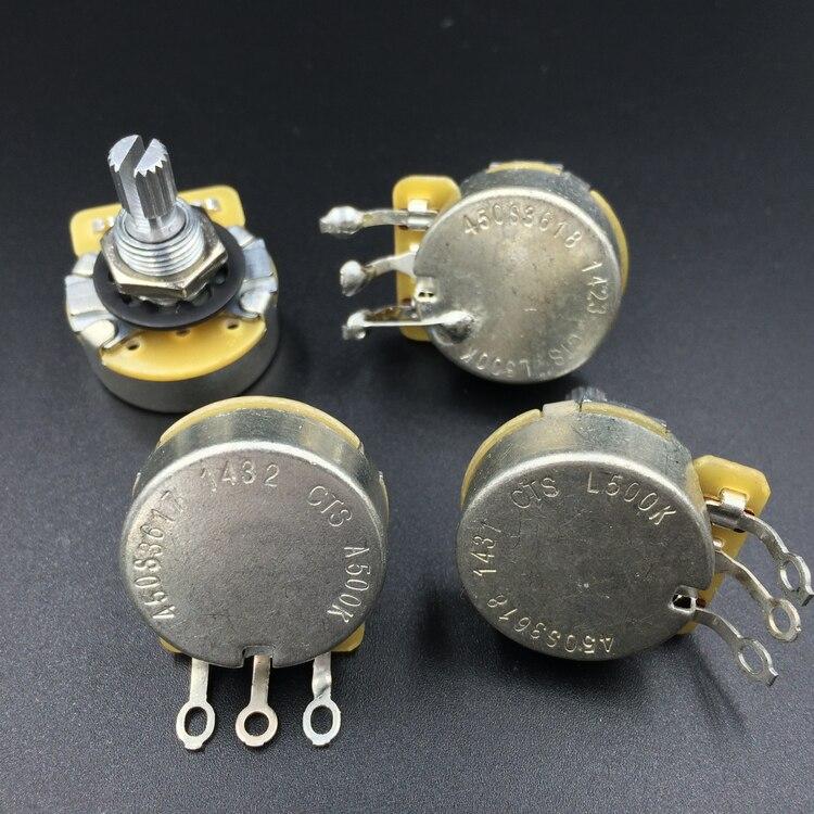 CTS E-gitarre Potentiometer Elektrische Bass Potentiometer Volumen Tune Knopf A500K B500K(L500K)