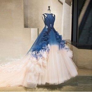 Evening Dresses Gorgeous gala jurken Evening Dress Navy Blue Long Formal Evening Gown Beaded Pleats Tulle robe de bal longue