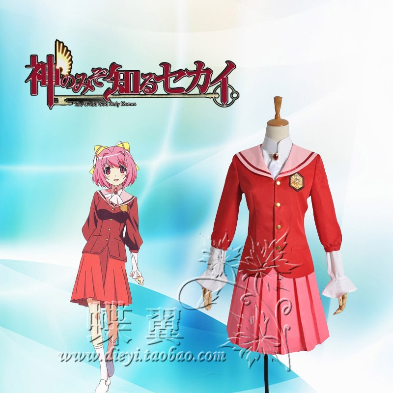 Anime el mundo que Dios sólo sabe Kami Nomi zo Shiru Cortesía de Sekai Nakagawa Kanon Cosplay traje