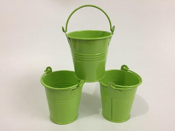10 unids/lote D7xH7CM mini cubos de hierro verde claro metal baby showers favor titular macetas suculentas para jardín de infantes