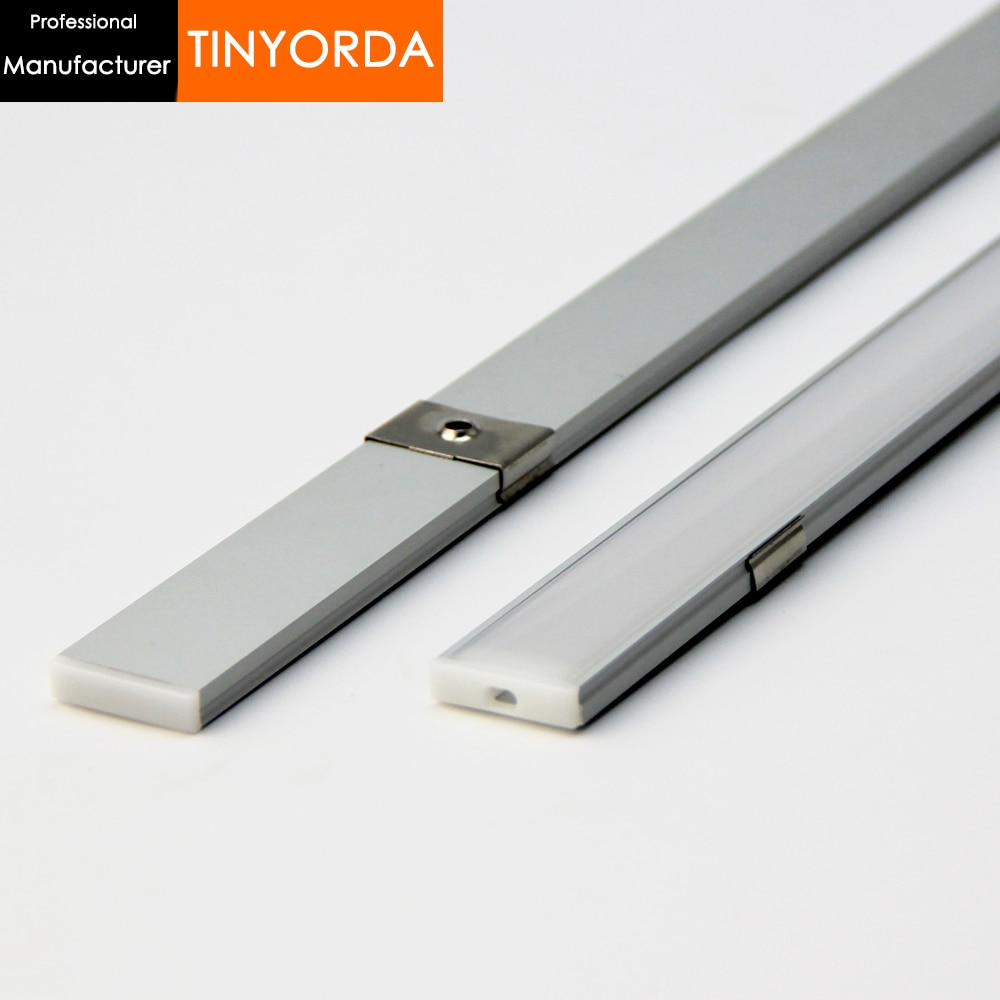 Tinyorda 1000Pcs (1M Length)Profile for Led Strip Led Channel Profil for 20mm LED Strip Light [Professional Manufacturer]TAP2406