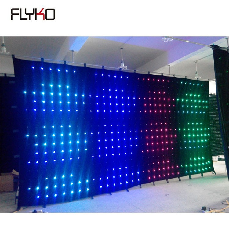 Gloshine-ستارة فيديو led مرنة ، منتج إبداعي P18 ، 3x6m