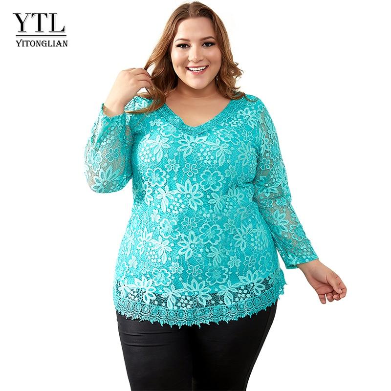 AliExpress - 2020 Womens Plus Size Big Yards Tops Femme Elegant Floral Lace T Shirt Women Elastic Tee Shirts 6XL 7XL 8XL H009