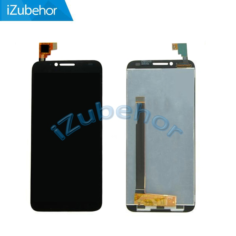 100% garantía negro pantalla LCD con pantalla táctil digitizador asamblea para Alcatel One touch Idol 2 OT6037 6037 6037Y 6037B