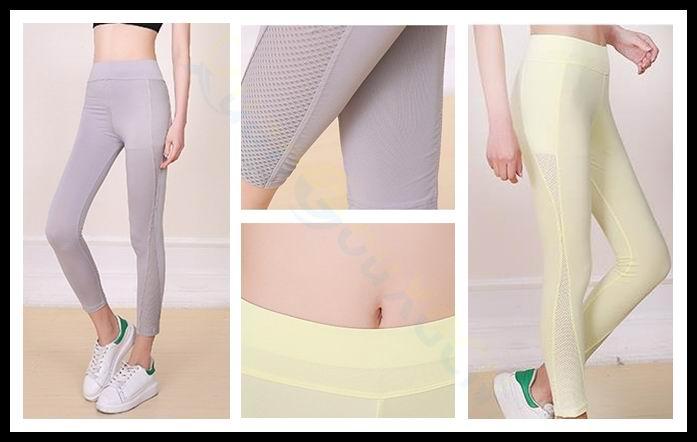 20 * pantalones de Yoga transpirables sexy para mujer, ropa deportiva para correr, Leggings elásticos para Fitness, pantalones ajustados para gimnasio, pantalones de secado rápido