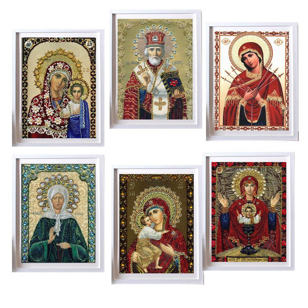 5d pintura diamante redondo diy pintura diamante bordado ponto cruz casa decoração mosaico de diamante religioso para as pessoas presente