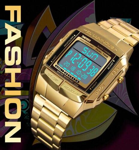 Reloj SKMEI, relojes deportivos para hombres y mujeres, reloj de pulsera Digital LED impermeable para exteriores