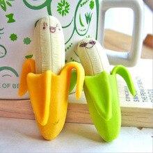 4 pièces. Gomme créative mignonne de crayon de Fruit de banane nouveaux enfants apprenant la papeterie détudiants