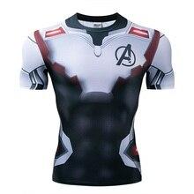 Été super-héros T-shirt extensible 3D Captain/Spiderman/Batman léopard hommes T-Shirt manches courtes Compression T-Shirt nouveau