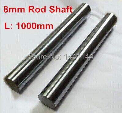 4 unids/lote de eje redondo de movimiento lineal endurecido para CNC DIY longitud 1000mm de diámetro. Varilla cromada endurecida de 8mm de diámetro