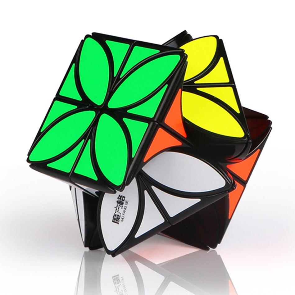 Cubo de trébol de cuatro hojas QiYi 3x3 cubo mágico de forma extraña 3x3x3 mágico cubo Skew Cubo de velocidad rompecabezas profesional juguetes niños regalo