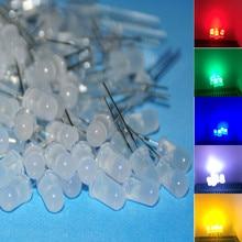 500 pièces LED 5mm mélange rouge/vert Jade/bleu/jaune/blanc lumière LED diffusée 100 pièces chaque 5mm LED lampe Diod