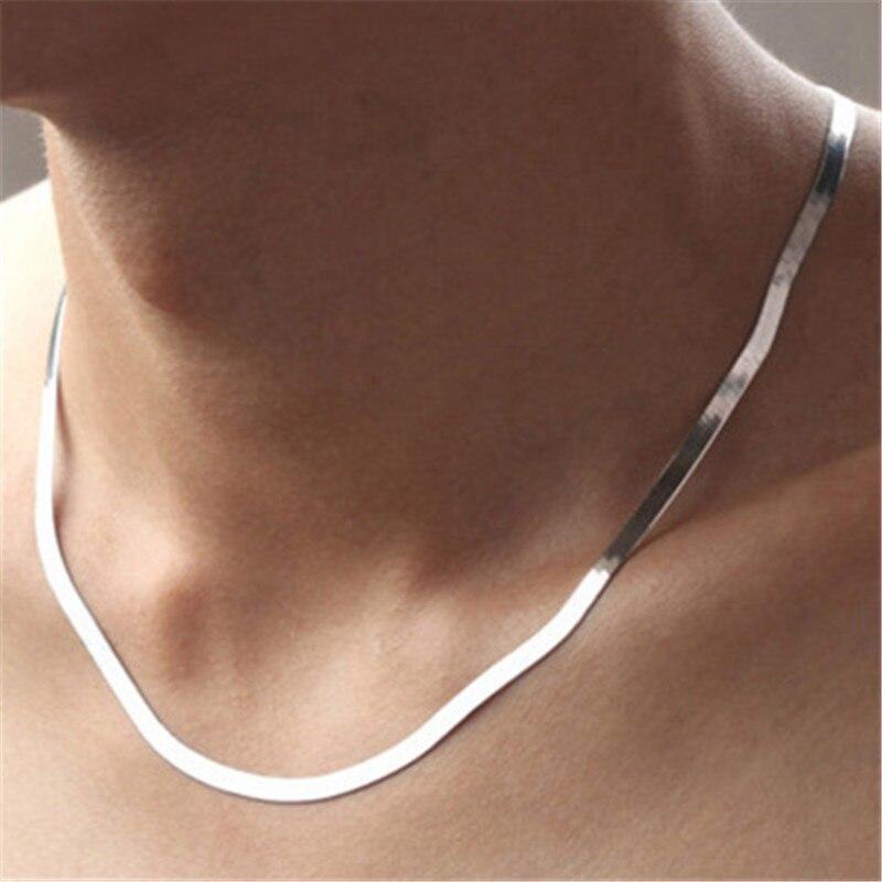 ¡Novedad! collares para hombre de diseño clásico de alta calidad, Collar de plata de ley 925 para hombres y mujeres, collar de promoción de joyería, regalo al por mayor