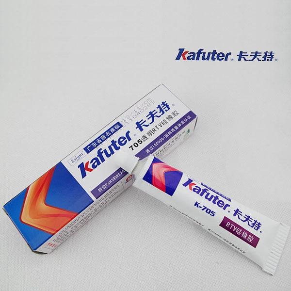 Envío gratis 2 unids/lote genuino Kafuter K-705 RTV de caucho de silicona de pegamento para electrónicos sellador transparente organosiliciados 45g