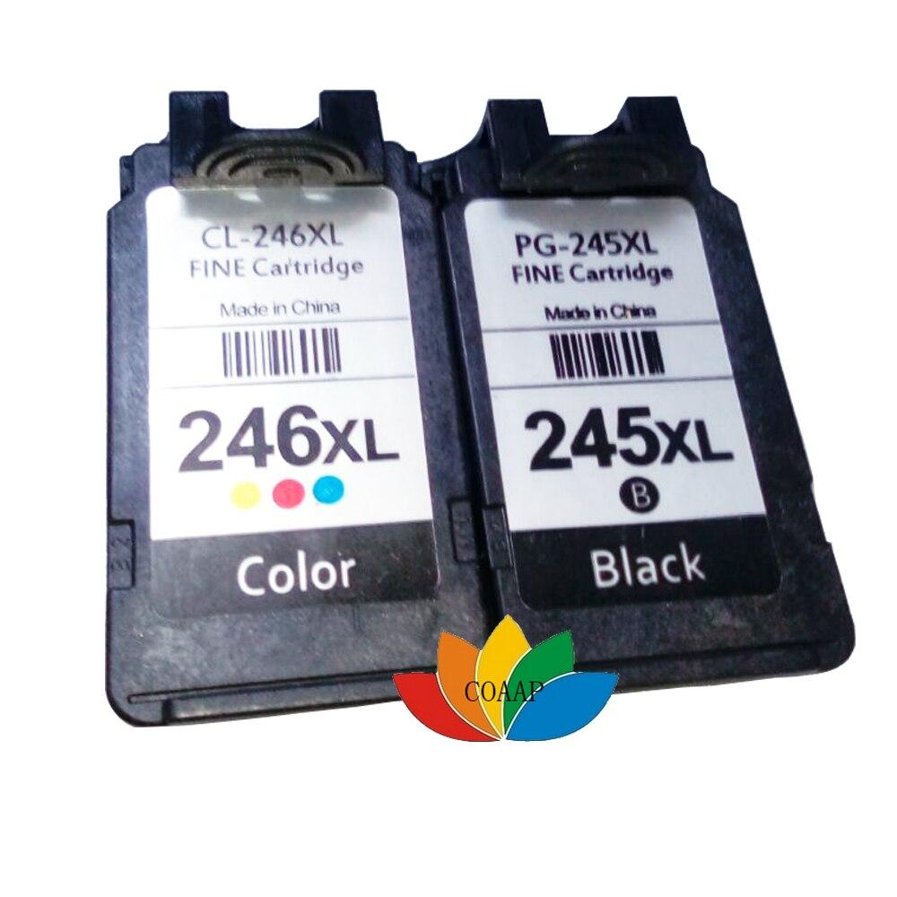 2x compatível canon PG-245XL/CL-246XL pacote de combinação de tinta, pixma mg2420, mg2520, mg2920, mg2922, mg2924, mx492, impressora ip2820