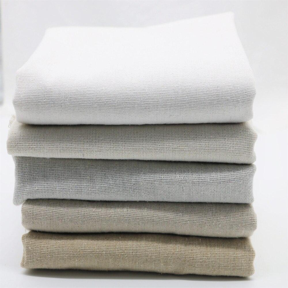 50*50cm * 5 tecido de linho natural para a agulha bordado retalhos costura tissus costura têxteis tela sentiu gasto