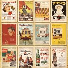 32 pz/lotto Classico Famoso Poster Vintage stile di memoria cartolina set/Biglietti di Auguri/carte regalo/cartoline Di Natale H002