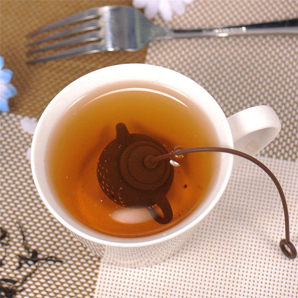 Silicone chá infusers gel estilo chinês mini bonito argila bule forma infusor saco de chá folha filtro difusor