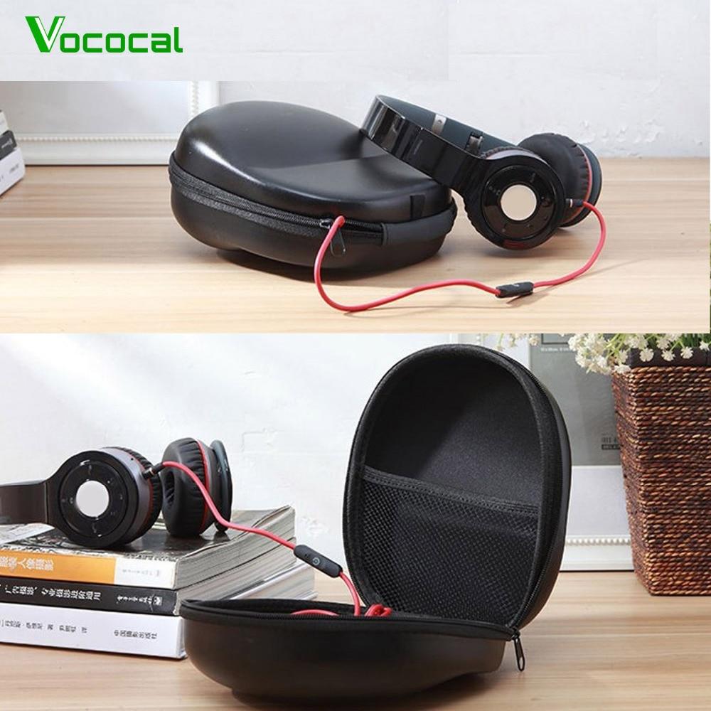 Vococal Universal Fone De Ouvido fone de Ouvido Resistente Ao Choque EVA Hard Carrying Storage Case Box para Sennheiser HD201 HD202 Sony Edifier