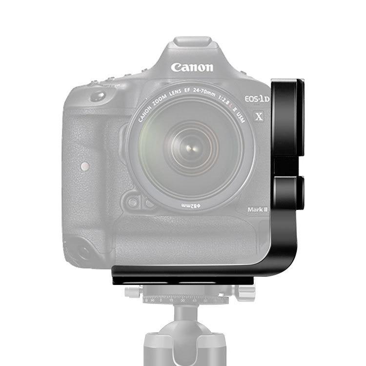Cabezal de trípode placa L de liberación rápida para canon 6D 5D3 5DSR 1DX 1DX MarkII con agarre de batería soporte en L placa QR accesorios de cámara