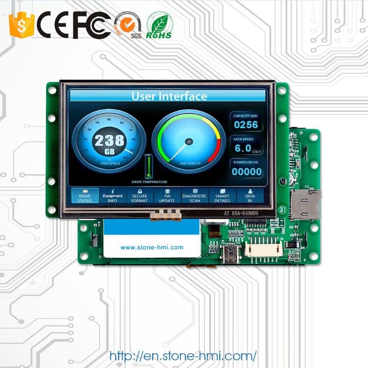 Módulo de pantalla TFT LCD Digital de 4,3 pulgadas incrustado en piedra con 3 años de garantía