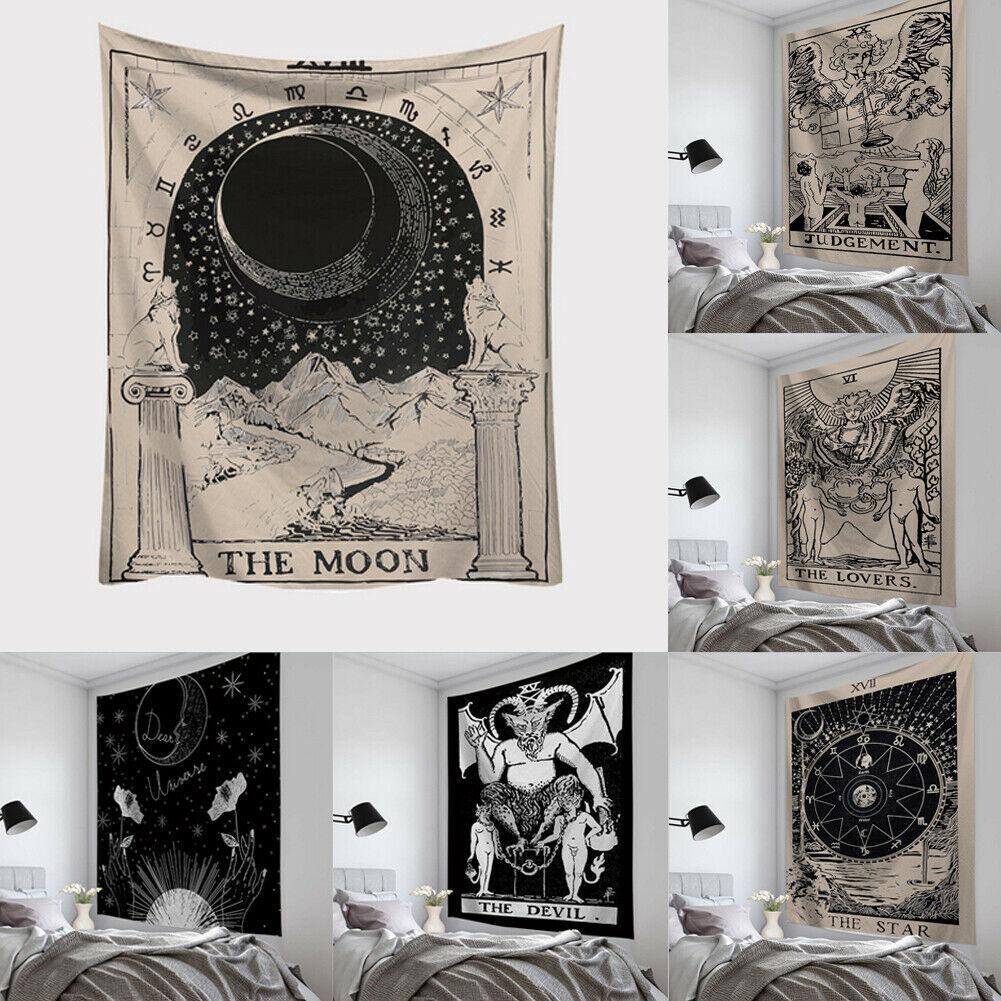 Таро карты гобелен настенный Астрология гадания покрывало пляжный коврик