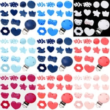 35pcs Pick Color  Mixing With Beads Fit DIY Pacifier Chain Handmade Baby Products
