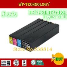 12 pièces, cartouches dencre Compatibles Pour HP970 HP971 costume pour HP X451dn X451dw X476dn X476dw X551dw X576dw, encre pigmentée