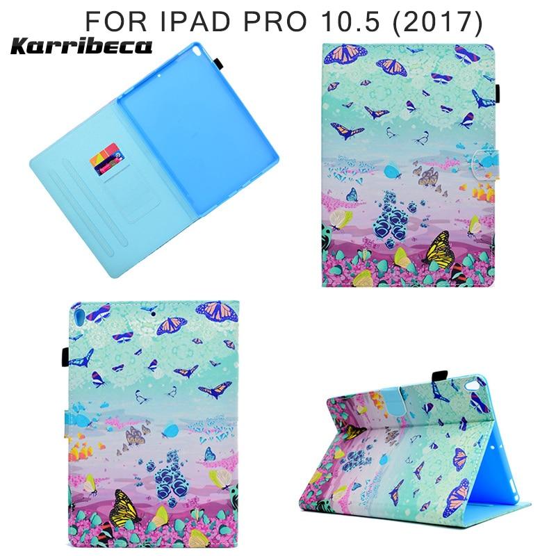 Funda de cuero PU con imán de caballo de dibujos animados para iPad Pro 10,5 (2017) tableta cubierta hoesje coque kryt estuche funda puzdra kilifi