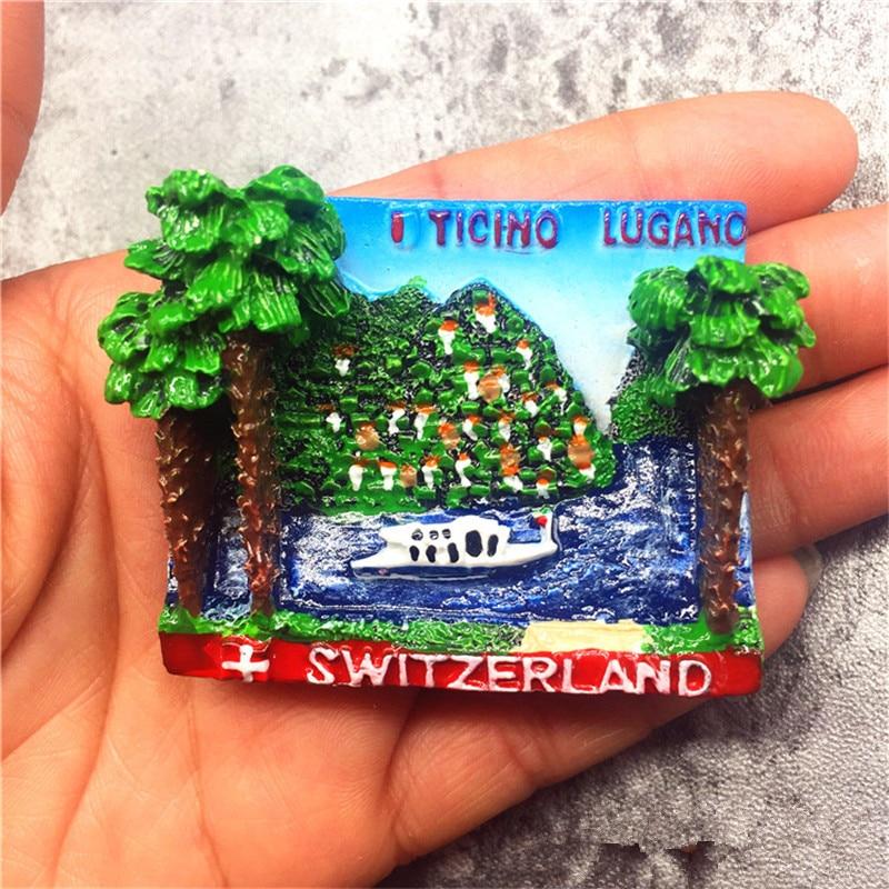 Pegatina magnética de nevera pintada a mano de Yicino Lucano, recuerdo turístico,...