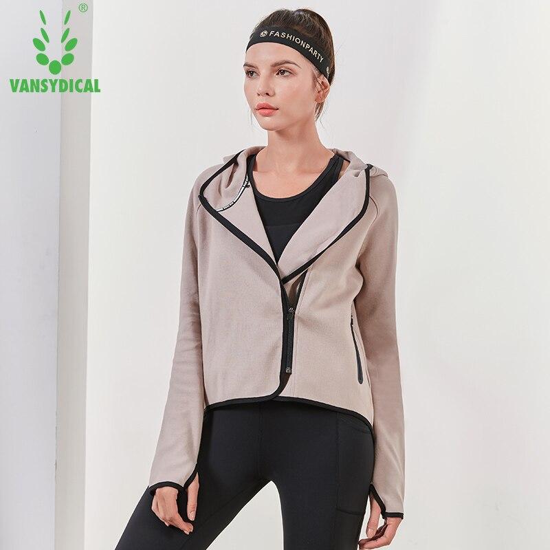 Vansydical, chaquetas transpirables de Yoga para correr para mujeres, sudaderas con cremallera para adiestramiento al aire libre, ropa deportiva de manga larga para Fitness