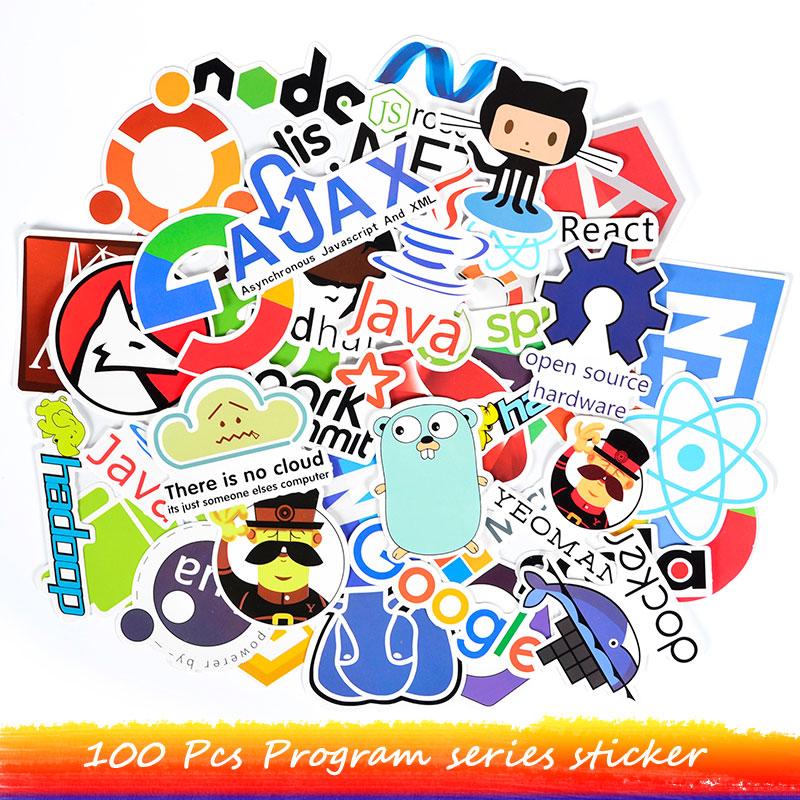 Программатор, наклейки для компьютера, ПК, Macbook, 100 шт.