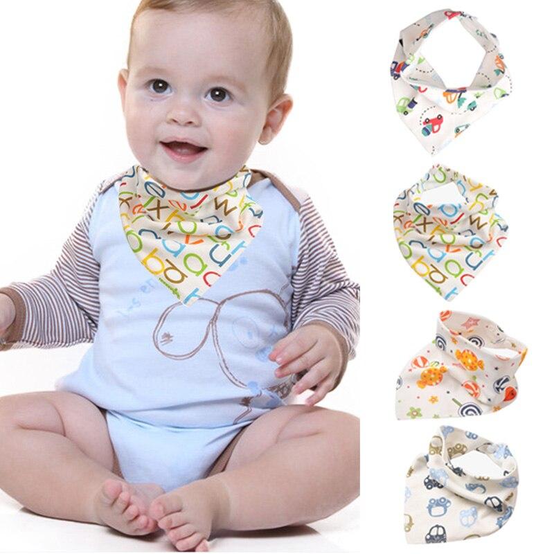 10 Uds. Toalla de algodón triángulos para Saliva de bebé con estampado de dibujos animados, botón a presión, triángulos, toalla para Saliva YJS, envío directo