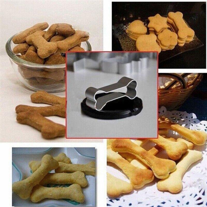 Nova Adorável Liga de Alumínio Osso de Cão Forma Cookie Cutter Fondant Biscoito Ferramentas Mold Bolo Que Decora ferramentas de Molde DIY