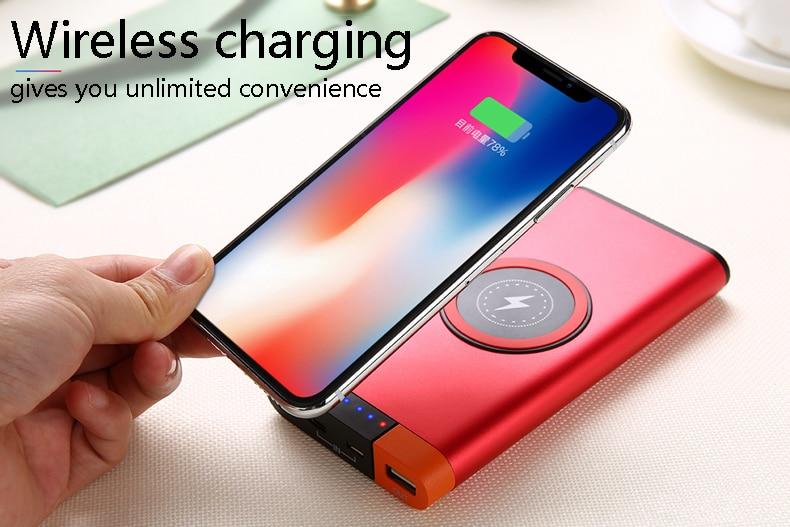 2018NEW Delgado 20000 Mah potencia de Banco portátil Ultra-mince Alliage Powerbank batería potencia de banco para iPhone X Gran oferta