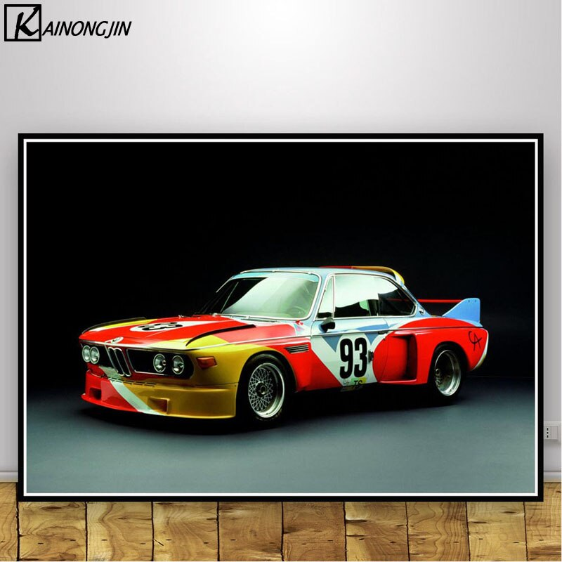Póster Retro clásico para coche de carreras BMW M3 E30, pósteres e impresiones, pintura en lienzo, arte de pared, imagen para sala de estar, decoración del hogar