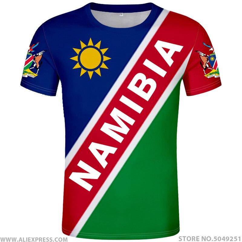 NAMIBIA t shirt text free custom made name number nam t-shirt nation flag na republic namibian college print photo logo clothing