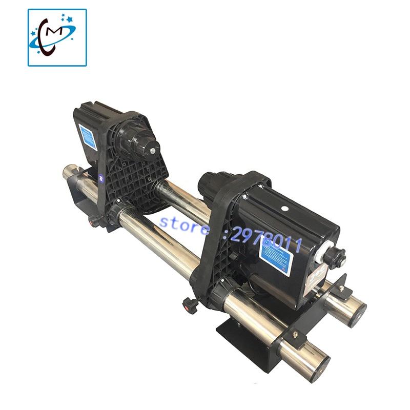 A impressora dos meios do automóvel do motor dobro toma acima o sistema do coletor do papel do plotador de roland mutoh mimaki xenons dx5 dx7 50mm