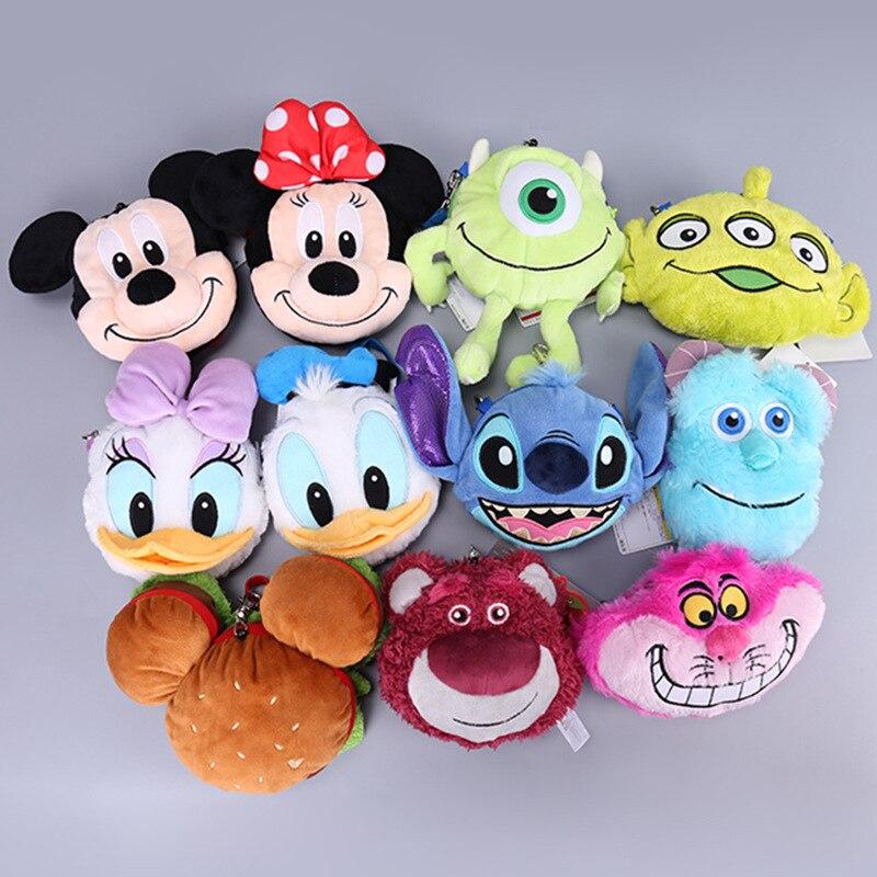 Mickey Mouse Minnie Pato Donald Daisy de fresa oso Monster University de peluche mochila chica bolso de hombro de los niños regalo de cumpleaños