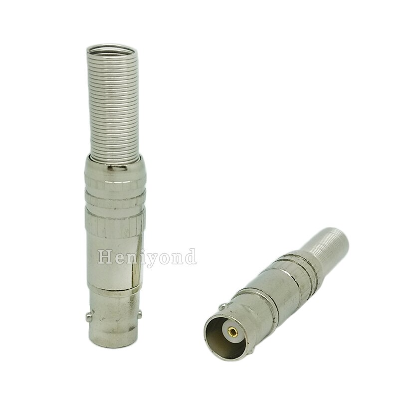 10pcs/lot BNC Female Video Plug Coupler Connector to screw for RG59 video male bnc adapter for cctv enlarge
