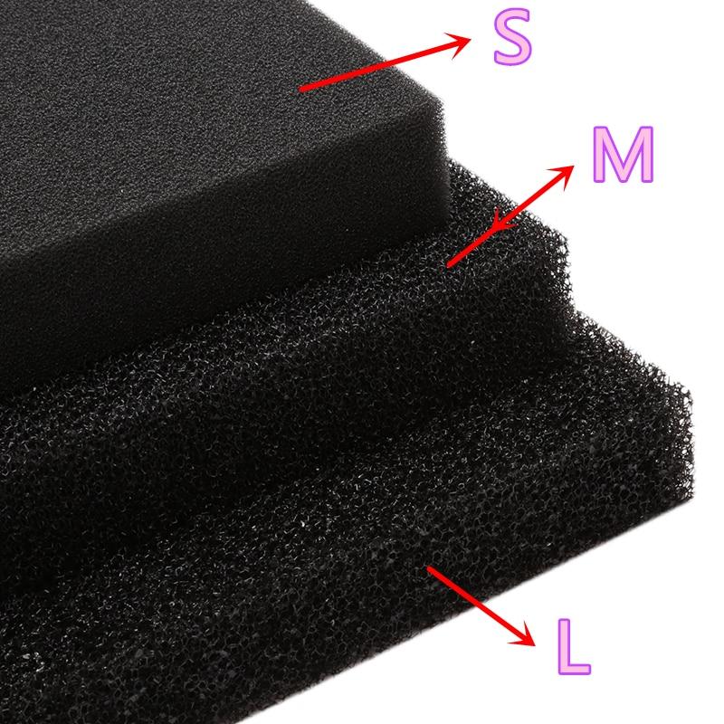 Фильтрующая поролоновая подложка с активированным углем, квадратная биохимическая фильтрующая губка для аквариума, отверстие S/M/L C42